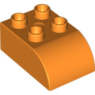 [New] Brick 2 x 3 with Curved Top, Orange. /Lego DUPLO. Parts. 2302