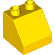 [New] Brick 2 x 2 Slope 45, Yellow. /Lego DUPLO. Parts. 6474