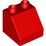 [New] Brick 2 x 2 Slope 45, Red. /Lego DUPLO. Parts. 6474