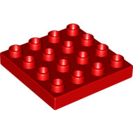 [New] Plate 4 x 4, Red. /Lego DUPLO. Parts. 10569