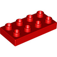[New] Plate 2 x 4, Red. /Lego DUPLO. Parts. 40666