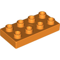 [New] Plate 2 x 4, Orange. /Lego DUPLO. Parts. 40666
