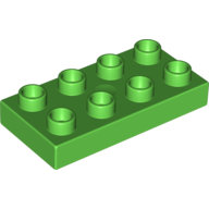 [New] Plate 2 x 4, Bright Green. /Lego DUPLO. Parts. 40666