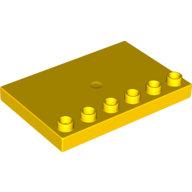 [New] Пластина со штырьками 4x6 в один ряд желтая. /Lego DUPLO. Parts.