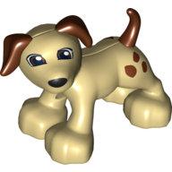 [New] Собачка кремовая. /Lego DUPLO. Parts. 6019830