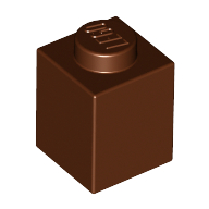 [New] Brick 1 x 1, Reddish Brown. /Lego. Parts. 3005