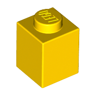 [New] Brick 1 x 1, Yellow. /Lego. Parts. 3005