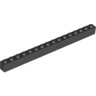[New] Brick 1 x 16, Black. /Lego. Parts. 2465