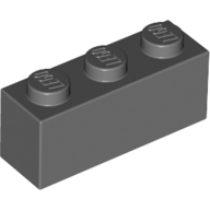 [New] Brick 1 x 3, Dark Bluish Gray. /Lego. Parts. 3622