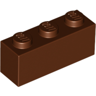[New] Brick 1 x 3, Reddish Brown. /Lego. Parts. 3622