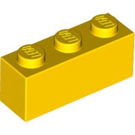 [New] Brick 1 x 3, Yellow. /Lego. Parts. 3622