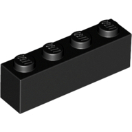 [New] Brick 1 x 4, Black. /Lego. Parts. 3010