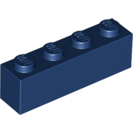 [New] Brick 1 x 4, Dark Blue. /Lego. Parts. 3010