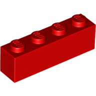 [New] Brick 1 x 4, Red. /Lego. Parts. 3010