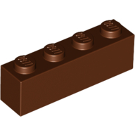[New] Brick 1 x 4, Reddish Brown. /Lego. Parts. 3010