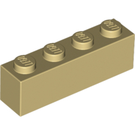 [New] Brick 1 x 4, Tan. /Lego. Parts. 3010