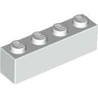 [New] Brick 1 x 4, White. /Lego. Parts. 3010