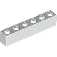 [New] Brick 1 x 6, White. /Lego. Parts. 3009