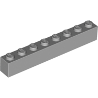 [New] Brick 1 x 8, Light Bluish Gray. /Lego. Parts. 3008