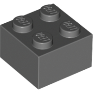 [New] Brick 2 x 2, Dark Bluish Gray. /Lego. Parts. 3003