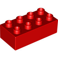 [New] Brick 2 x 4, Red. /Lego DUPLO. Parts. 3011