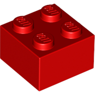 [New] Brick 2 x 2, Red. /Lego. Parts. 3003