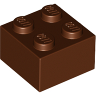 [New] Brick 2 x 2, Reddish Brown. /Lego. Parts. 3003