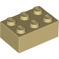 [New] Brick 2 x 3, Tan. /Lego. Parts. 3002