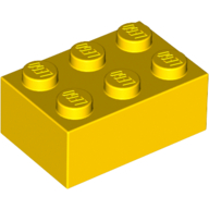 [New] Brick 2 x 3, Yellow. /Lego. Parts. 3002