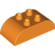 [New] Brick 2 x 4 Curved Top, Orange. /Lego DUPLO. Parts.