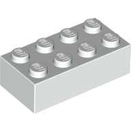 [New] Brick 2 x 4, White. /Lego. Parts. 3001