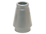 [New] Cone 1 x 1 with Top Groove, Flat Silver. /Lego. Parts. 4589b / 6121350