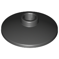 [New] Dish 2 x 2 Inverted (Radar), Black. /Lego. Parts. 4740 / 474026
