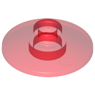 [New] Dish 2 x 2 Inverted (Radar), Trans-Red. /Lego. Parts. 4740 / 4142995