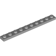 [New] Plate 1 x 10, Light Bluish Gray. /Lego. Parts. 4477
