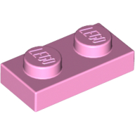 [New] Plate 1 x 2, Bright Pink. /Lego. Parts. 3023