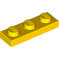 [New] Plate 1 x 3, Yellow. /Lego. Parts. 3623
