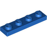 [New] Plate 1 x 4, Blue. /Lego. Parts. 3710