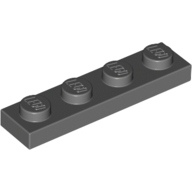 [New] Plate 1 x 4, Dark Bluish Gray. /Lego. Parts. 3710