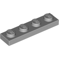 [New] Plate 1 x 4, Light Bluish Gray. /Lego. Parts. 3710