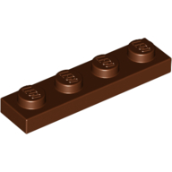 [New] Plate 1 x 4, Reddish Brown. /Lego. Parts. 3710