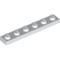 [New] Plate 1 x 6, White. /Lego. Parts. 3666