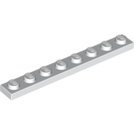 [New] Plate 1 x 8, White. /Lego. Parts. 3460