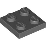 [New] Plate 2 x 2, Dark Bluish Gray. /Lego. Parts. 3022