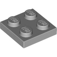 [New] Plate 2 x 2, Light Bluish Gray. /Lego. Parts. 3022