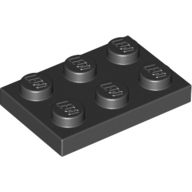 [New] Plate 2 x 3, Black. /Lego. Parts. 3021