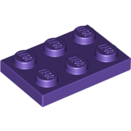 [New] Plate 2 x 3, Dark Purple. /Lego. Parts. 3021