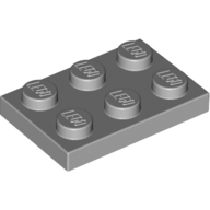 [New] Plate 2 x 3, Light Bluish Gray. /Lego. Parts. 3021