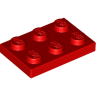 [New] Plate 2 x 3, Red. /Lego. Parts. 3021