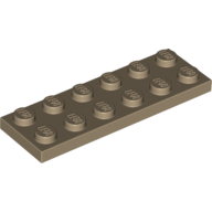 [New] Plate 2 x 6, Dark Tan. /Lego. Parts. 3795